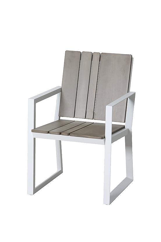 Leco 33850100 - Sedie da giardino in legno artificiale, confezione da 2 pezzi