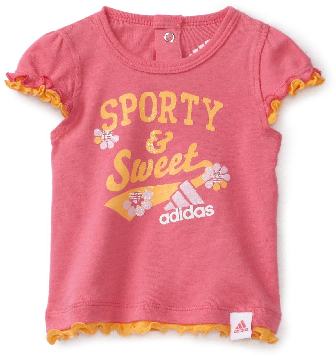 阿迪达斯超可爱女宝宝t恤$5.65