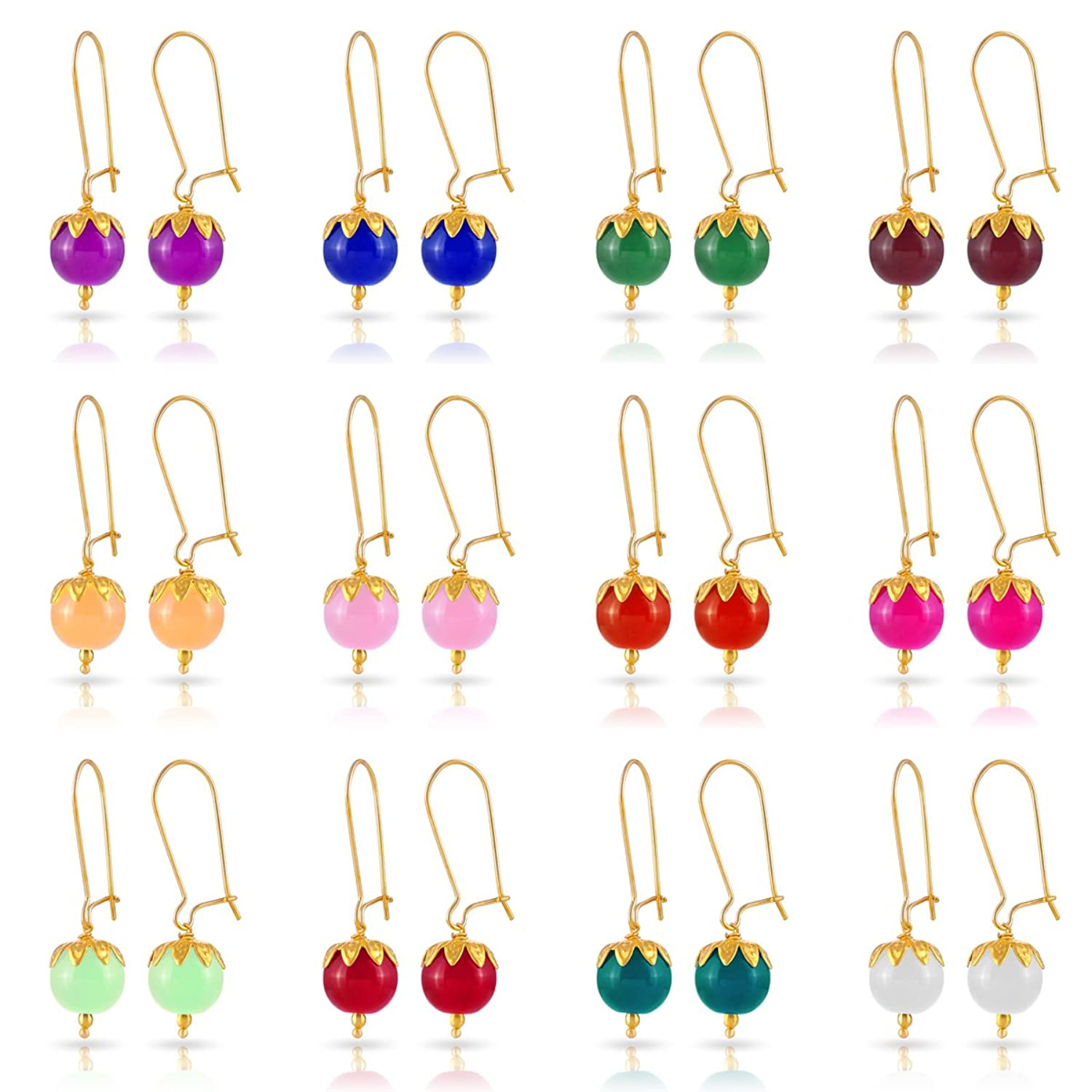 12 Pairs Of Kiwi Kreation Handmade Earrings For Girls And Women Daily Wear
