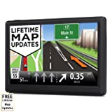 HighSound 7 inch 8GB Navigation System for Cars, Car GPS Spoken Turn- to-turn Traffic Alert Vehicle GPS Navigator, Lifetime Map Updates