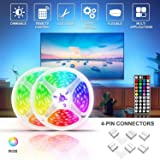 LED Strip Lights, Color Changing RGB LED Strip Light with Remote 32.8 ft, SMD5050 LED Tape Light for Room Party Christmas Decoration (Color: Multi-color Rgb Led Light Strip, Tamaño: 32.8ft Non-Waterproof)