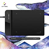 XP-PEN G430S 4 x 3 inch Graphic Drawing Tablet for OSU! gameplay with our Battery-free stylus design(Black) (Color: G430S Black)