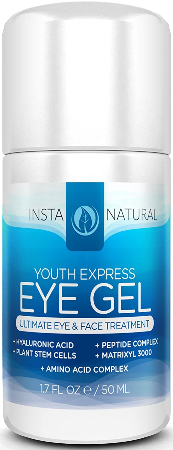 InstaNatural THE BEST Eye Cream For Dark Circles Puffiness Wrinkles & Bags Best Under Eye Gel For