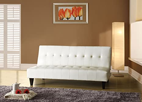 Acme 05858C Conrad Adjustable Sofa, White Polyurethane Finish