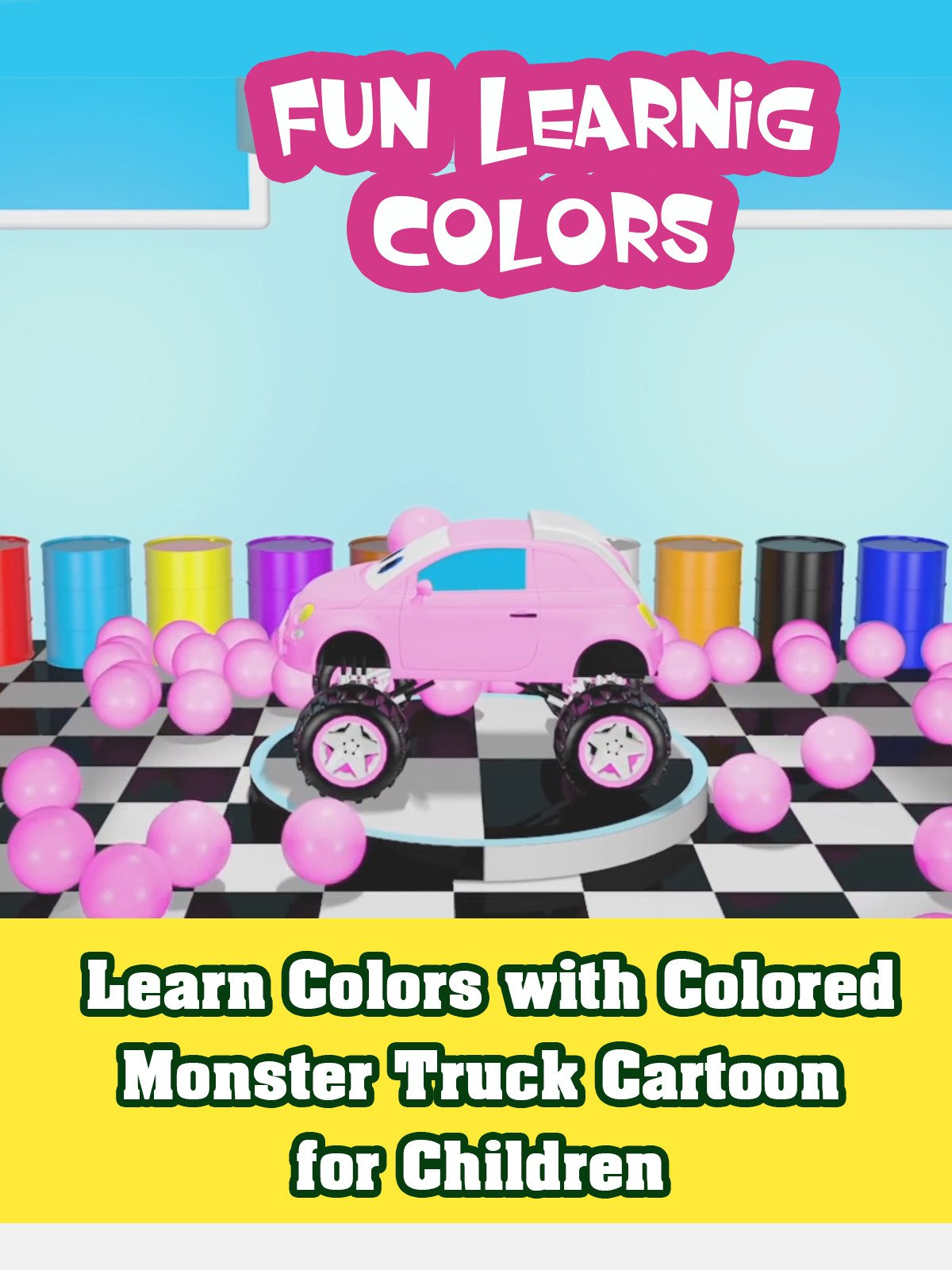 Learn Colors with Colored Monster Truck Cartoon for Children on Amazon Prime Video UK