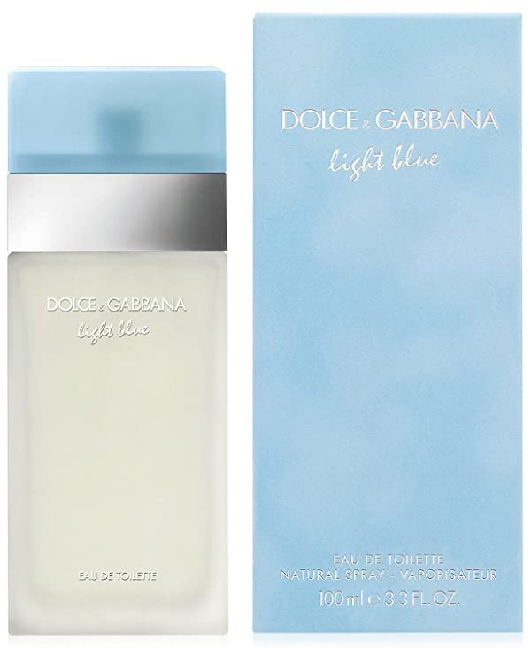 Dolce & Gabbana Eau de Toilettes Spray, Light Blue, 3.3 Fluid Ounce