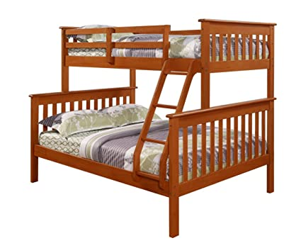 Twin/Full Bunk Bed - Creamy Espresso Finish - Mission Style
