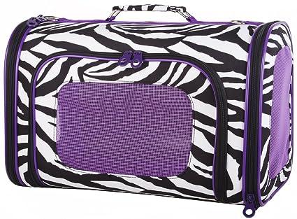 Zebra Pet Carrier Ever Moda Purple Zebra Pet