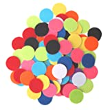 Playfully Ever After 1 inch Mixed Color Assortment 100pc Felt Circle Stickers (Color: Mix, Tamaño: 1 inch)