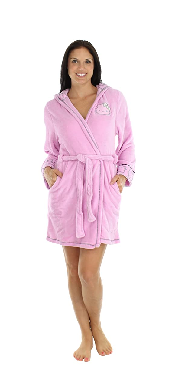 Hello Kitty Women's Fuzzy Hooded Robes