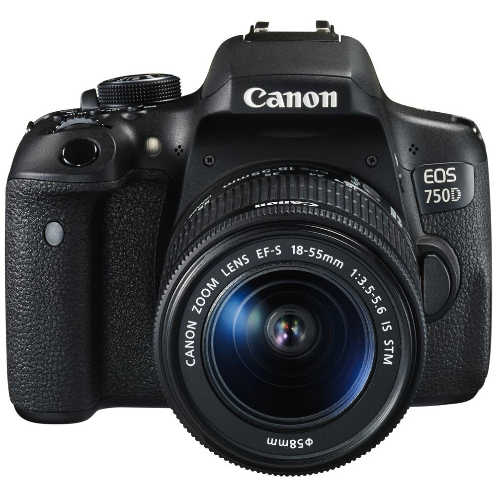 Canon EOS 750D 24.2MP Digital SLR Camera (Black) with 18-55...