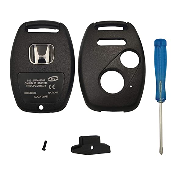 Key Case-New Replacement for New 2+1 Buttons Keyless Entry Smart Remote Control Key Fob Shell Fit For Honda CR-V Odyssey Accord Crosstour Civic CR-Z Fit