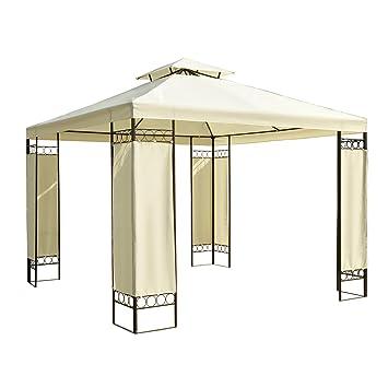4 pavillon de jardin tonnelle tente tente de f te gazebo party party tent 3 x 3 m cr me. Black Bedroom Furniture Sets. Home Design Ideas