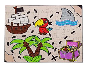 Hygloss Products Blank Jigsaw Puzzle - Compoz-A-Puzzle - 8.5 x 11 Inch - 63 Pieces, 100 Puzzles (Tamaño: 63 Puzzle Pieces)
