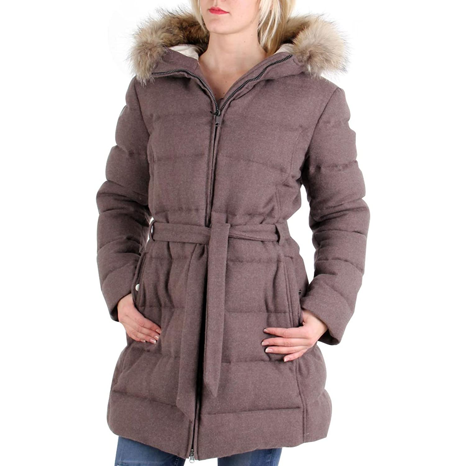MUSEUM Damen Winter Parka Wool-Down Mikayala Braun 19442