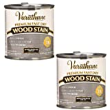 Rust-Oleum 269398 1/2 Pint Varathane Fast Dry Wood Stain, Weathered Gray, Pack of Two