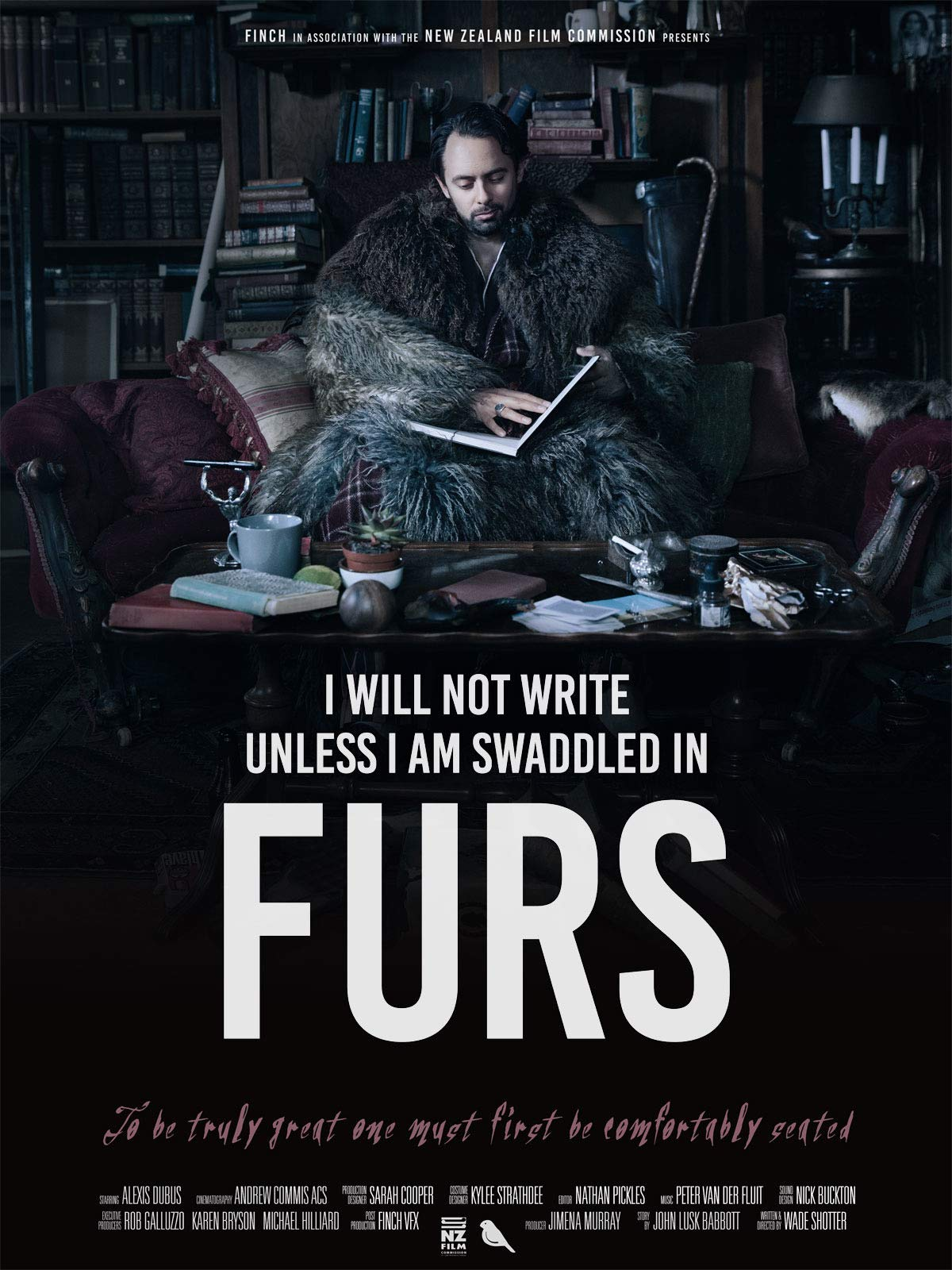 I Will Not Write Unless I'm Swaddled in Furs