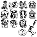 European Charm Bracelet Charms and Beads For Women and Girls Jewelry, Puppy Dog