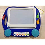 SGILE Musical Magnetic Drawing Board Gift for Kids Girl with Sound (Color: Navy)