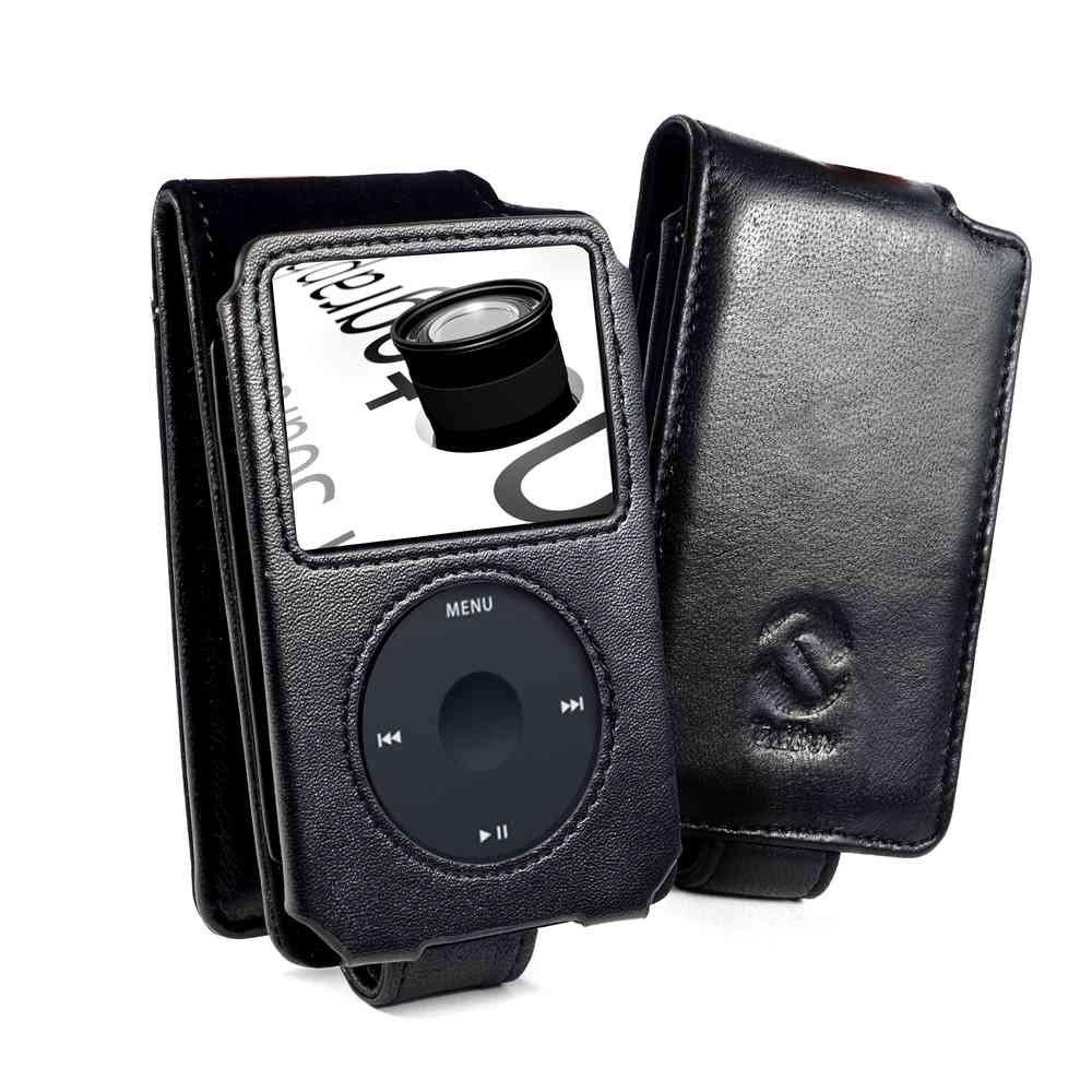 Tuff-Luv Premium - Funda de piel napa para Apple iPod Classic (80GB / 120GB / (160GB - Edición de 2009 sólo), color negro - Electrónica - revisión