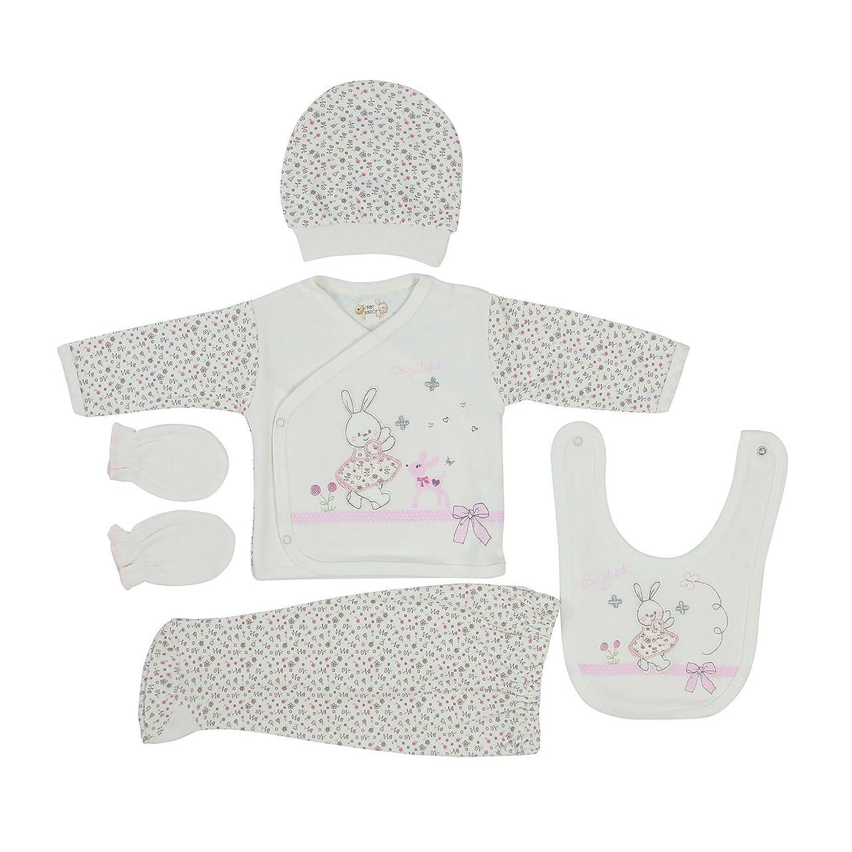 Bebitof Baby Girl's Newborn Bunny 5 Piece Gift Set