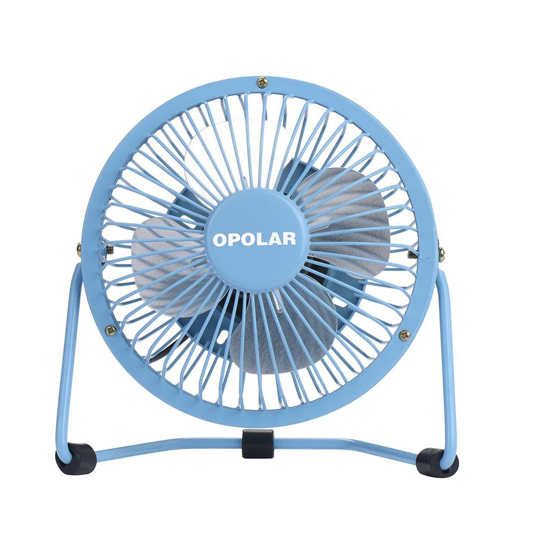 opolar mini usb desk fan  usb powered  metal design  quiet