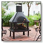Red Ember 4 ft. Chiminea Fireplace with Cover