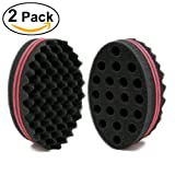 NIRVANA Big Holes Barber Hair Brush Sponge Dreads Locking Twist Afro Curl Coil Wave Hair Care Tool (2 Pcs) (Color: Red, Tamaño: 2 Pcs)