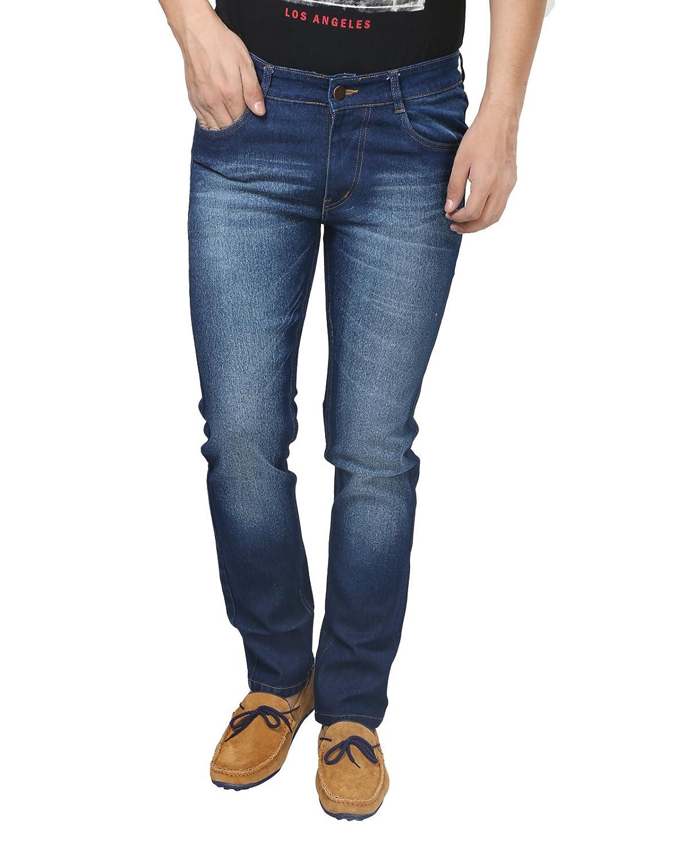 Trendy Trotters Cotton Stretchable Dark Blue Denim Jeans