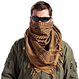 Generic Tactical Desert Shemagh Arab Keffiyeh Neck Scarf Orange (Color: Orange, Tamaño: One Size)