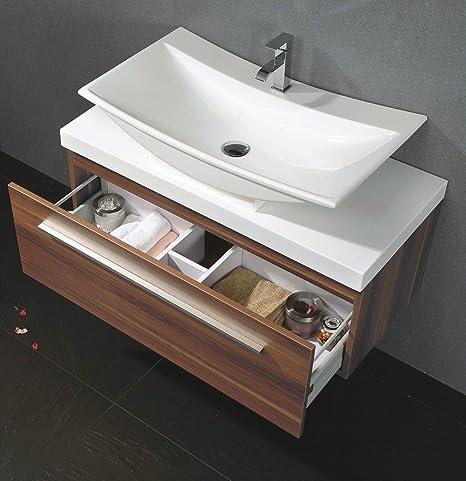 Amsterdam lavabo Set 100cm Noce