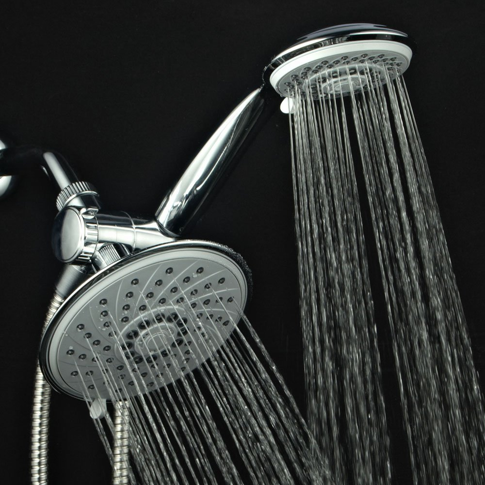 6 Chrome Rainfall 3 Way Shower Head Luxury Shower Faucet Set New Fast