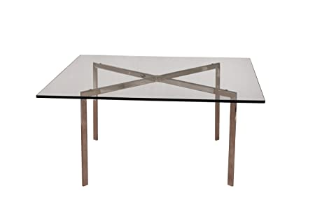 Modern Pavilion Coffee Table - High Quality Tempered Glass with Stainless Steel Frame