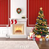 AIIKES 10X10FT Christmas Backdrops for Photography Christmas Tree Indoor Fireplace Photography Background Photo sutdio Props 11-177 (Color: Xmas Backdrop11-177, Tamaño: 10X10FT)