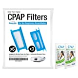 RespLabs CPAP Filters Compatible with Philips Respironics Dreamstation: 6X Single Use + 3X Reusable | Hypoallergenic, Exact Fit Machine Supplies (Tamaño: Dreamstation Filters x1)
