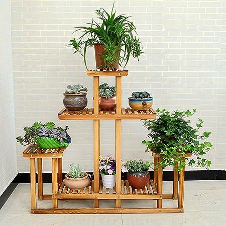 Massivholz-Blumen-Rack Multi-Storey Töpfe Regal Europäische - Stil Multi-Fleisch-Rahmen Balkon Wohnzimmer Grune Blume Blumen Regal
