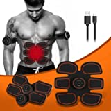 ABS Stimulator, Portable Muscle Trainer with Rhythm & Soft impulse - 6 Modes & 10 levels with Simple Operation, Ultimate abs stimulator for Men Women