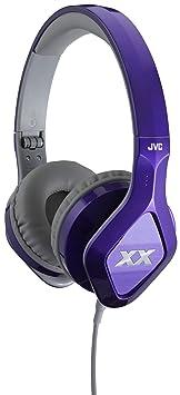 JVC hA-sR100X-écouteurs intra-auriculaires avec 1 touche intégré avec télécommande et microphone violette