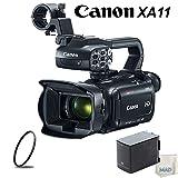 Canon XA11 Compact Full HD Camcorder Bundle with High Capacity Battery & UV Filter (Color: Canon XA11, Tamaño: w/ High Capacity Battery)