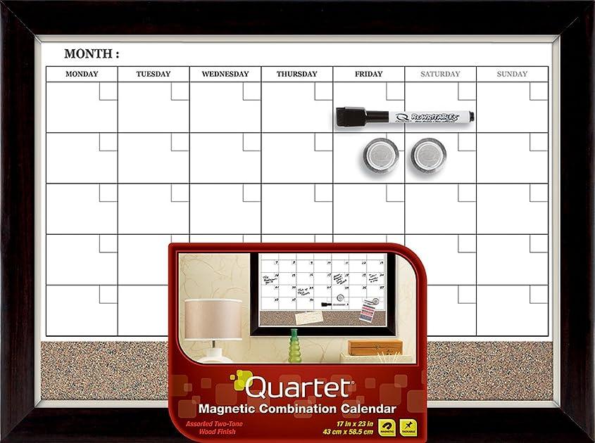 Calendar Bulletin Board Combo : Quartet magnetic combination calendar board dry erase and