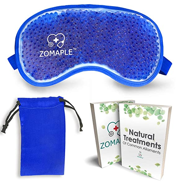 Cold Eye Mask Cooling Gel Compress Pack for Puffy Eyes, Migraine, Headache Relief, Pink Eye, Dark Circles, Dry Eye, Sinus & Allergy - Perfect Hot Cold Beads Face Ice Mask - Adjustable & Reusable (Color: Eye Mask, Tamaño: Gel Eye Mask)