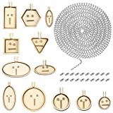 Caydo 33 Pieces Mini Ring Embroidery Hoops Kit Include Beaded Chain (2.4 mm), Embroidery Hoops and Matching Connectors for Art Craft Sewing and Hanging