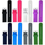 Replacement Silicone Bands for Fossil Q Wander Gen 2 Touchscreen Smartwatch (8pcs) (Color: 8pcs)