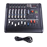 AW 6 Channel Professional Powered Mixer with USB Slot Power Mixing 110V
