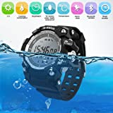 DOESIT Sports Watch, Waterproof LED Screen Digital Bluetooth Smart Watch Military Watches with Sleep Monitor/Steps/Calories/Alarm for Men Women