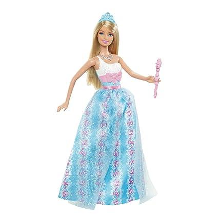 Barbie - W2857 - Poupée - Barbie Princesse Scintillante - Bleu
