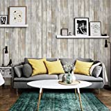 Faux Wood Brown Contact Paper Self-Adhesive Waterproof 17.8 X 78.8'' Removable Decorative Vinyl Film 3 D Peel and Stick Wallpaper D I Y for Bedroom Kitchen Furniture Retro Style (Color: Retro Brown, Tamaño: 17.8