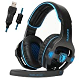 Sades SA903 USB 7.1 Surround Sound Stereo Gaming Headset with Mic
