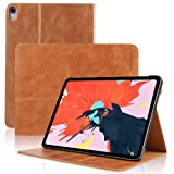SENGBIRCH Leather Case Compatible for iPad Pro 11 - Leather Smart Cover Protective - Folio Flip Stand with Magnetic - Auto Sleep/Wake - iPad Pro 11 Case (Brown) (Color: Brown(Pro 11))