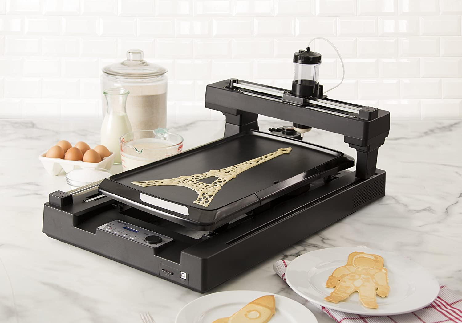 This is AMAZING - a pancake bot 3D food printer!!!